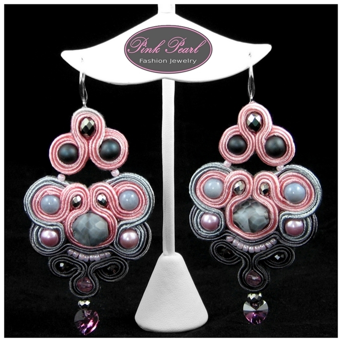 PINK & GRAY EARRINGS