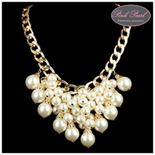 PLATED GOLD WITH PEARLS NECKLACES