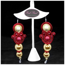 INDIAN BURGUNDY EARRINGS