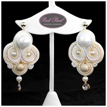 WEDDING ECRU EARRINGS