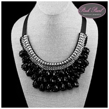 BLACK CRYSTAL NECKLACES